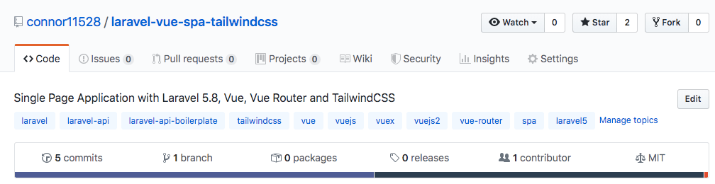 Build a Single Page Application with Laravel 5.8, Vue.js and Tailwind image